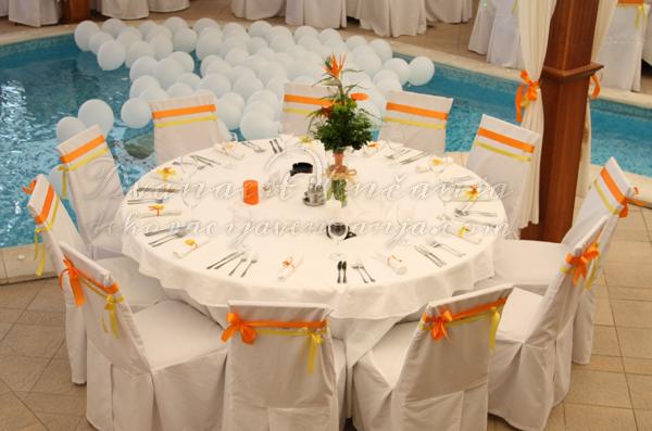 dekoracija vencanja narandzasto klub S