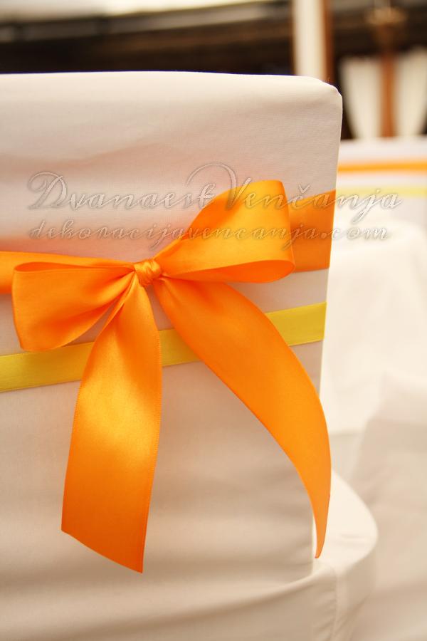 mašne za stolice narandžasta