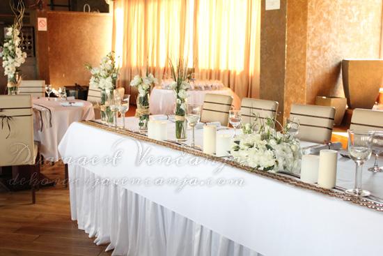 mladenački sto dekoracija restoran Vizantija