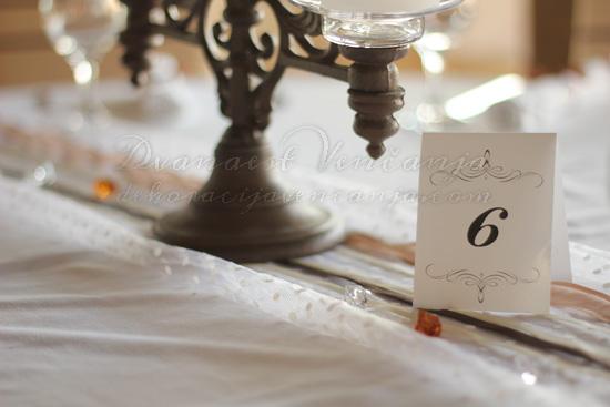 starinski svecnjak i broj za sto