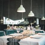 dekoracija stola zelena cipka